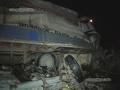 В Киеве грузовик без водителя врезался в столб