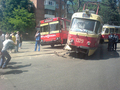 В Днепропетровске трамвай врезался в троллейбус