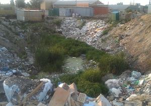 В Киеве обнаружили незаконную свалку мусора