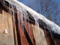 В Киеве глыба снега разбила женщине голову