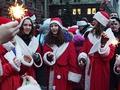 В Киеве сегодня прошел новогодий карнавальный марафон