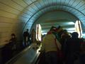 В Киеве на станции метро Лыбидская начался ремонт эскалатора