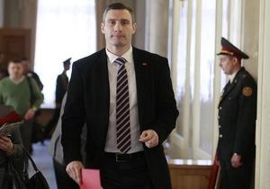 Кличко потребовал от Януковича явиться в парламент и рассказать о встрече с Путиным