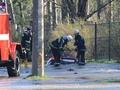 В Киеве в результате прорыва трубы под асфальт провалился автомобиль