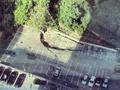 В Киеве на парковке из-за оползня провалился асфальт