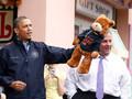 Губернатор Нью-Джерси выиграл для Обамы плюшевого медвежонка