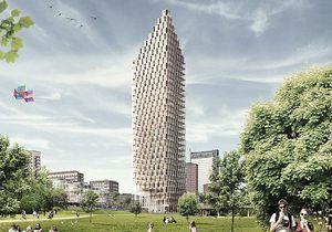 Новини бізнесу - Новини нерухомості - Шведи зведуть найвищий хмарочос з дерева - Новини Швеції - дерев'яний хмарочос