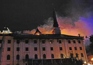 Новини світу - Рига - замок - пожежа