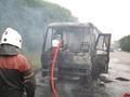В Полтавской области на ходу сгорел дотла пассажирский автобус