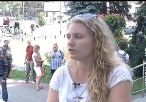 Активістка КУПР, що звинувачує міліціонера у побитті, не дає свідчень - Святошинське РВВС