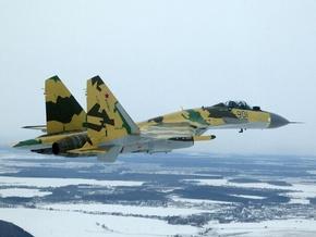 Фото Су-35 в полёте.