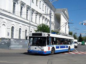В Полтаве загорелся троллейбус, исчерпавший срок эксплуатации
