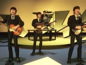 Кадр из компьютерной игры The Beatles: Rock Band