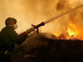 Пожар на полях аэрации будут тушить до понедельника