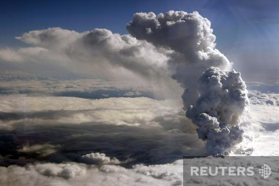 вулкан извержение в Исландии
