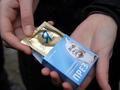 Операция кондом. В центре Киева раздавали презервативы с изображением Януковича