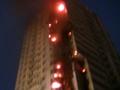 Пожар на Шулявке. В Киеве горел 25-этажный дом