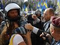 Драка на Крещатике. Попытка провести сессию Киевсовета обернулась стычками и потасовками