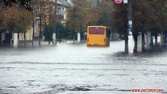После дождичка в четверг. Утренний ливень затопил Житомир