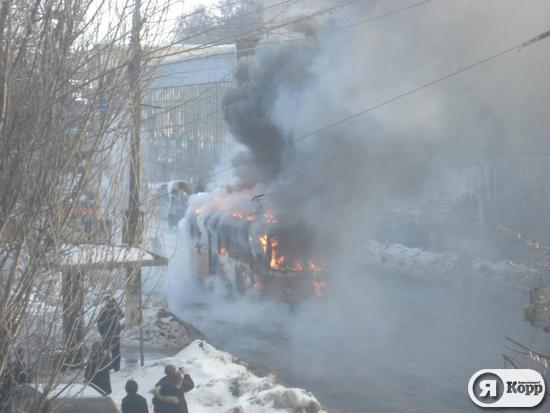 сгорел трамвай