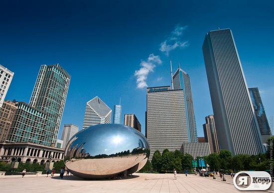 Чикаго - город ветров на берегу озера Мичиган